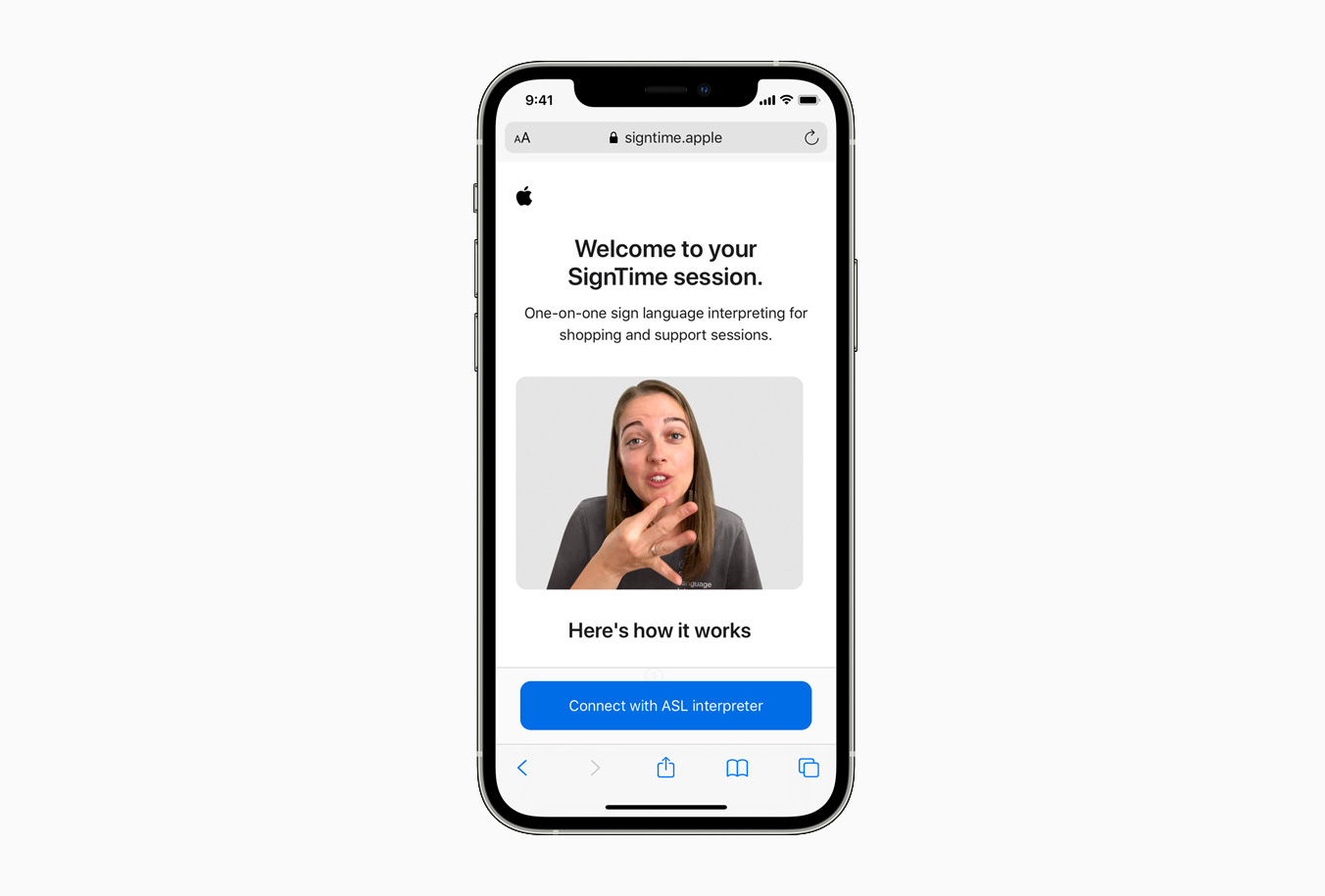 Apple SignTime