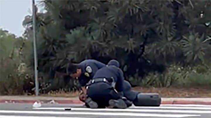 Video shows San Diego police repeatedly punching Black man