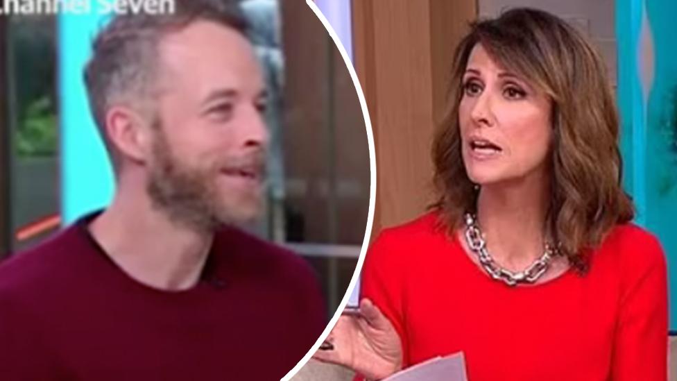 Sunrise host Nat Barr's question baffles Hamish Blake