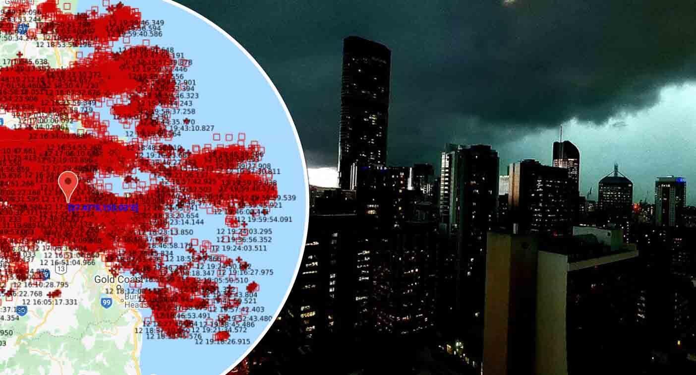 '71000 strikes': Why sky turned green during huge storm in Queensland – Yahoo News Australia