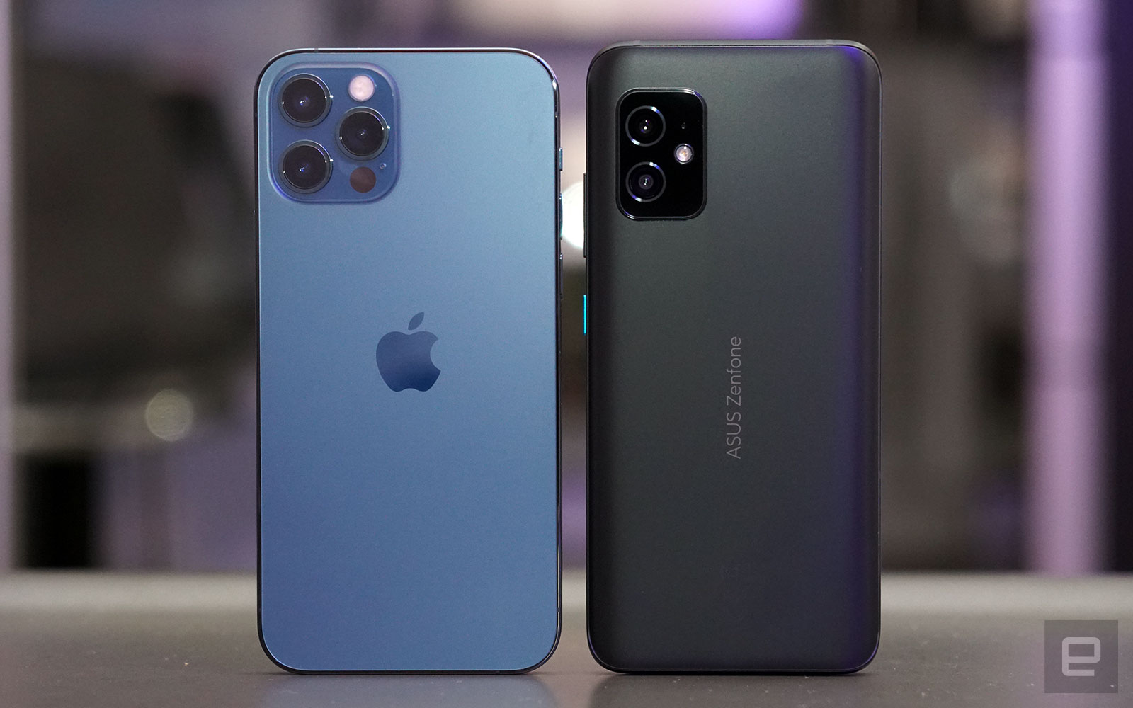 <p>iPhone 12 Pro and ZenFone 8</p>