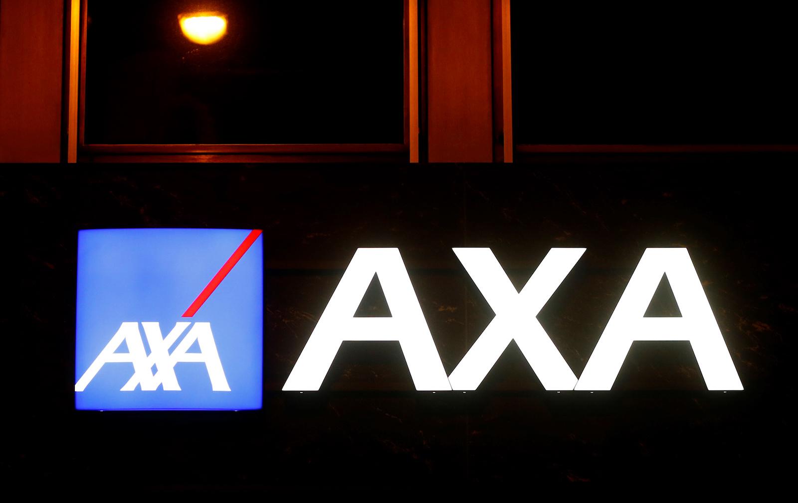 The logo of AXA insurance is seen at an office building in Basel, Switzerland March 2, 2020. REUTERS/Arnd Wiegmann - RC2PBF9JEF7Y