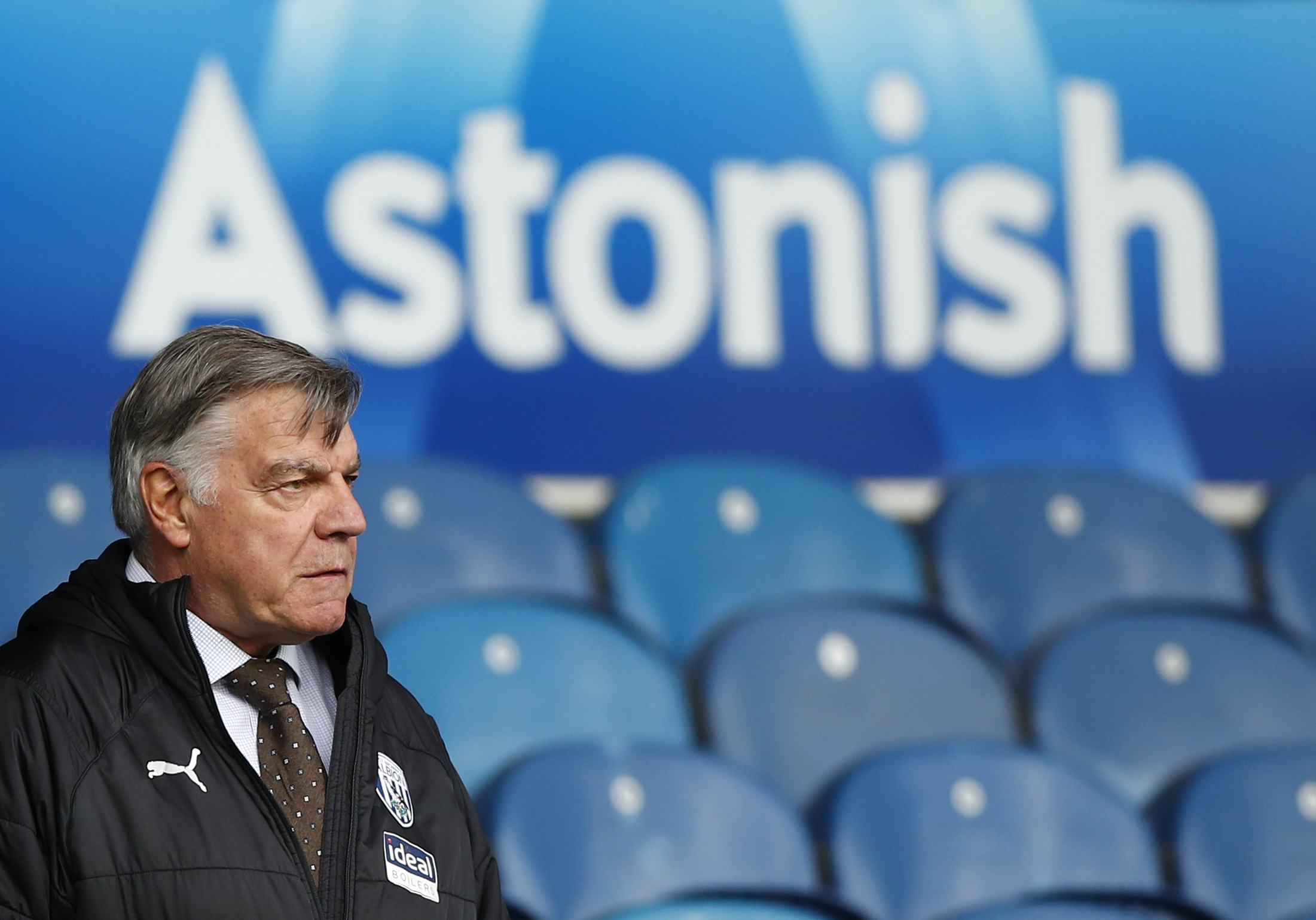 <p>West Bromwich Albion manager Sam Allardyce during the Premier League match at Elland Road, Leeds. Picture date: Sunday May 23, 2021.</p>