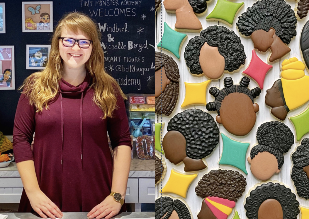 Woman says her viral cookies celebrating Black hair helped her to become 'actively anti-racist'