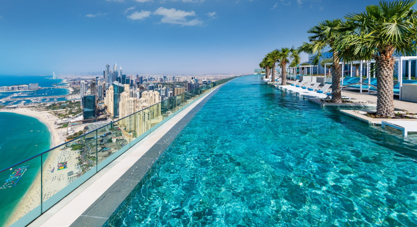 The world's highest infinity pool has just opened in Dubai