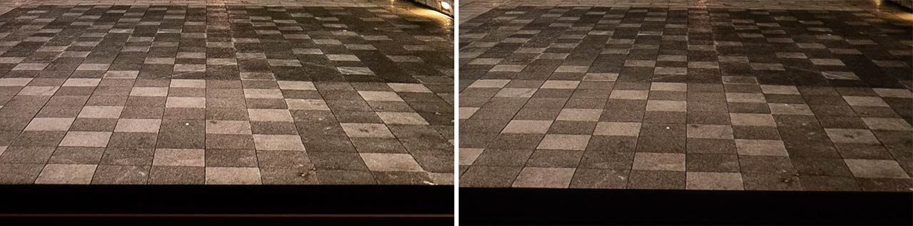 ▲ The road surface is partially enlarged.It can be seen that the contrast is improved and the three-dimensional effect is increased more than the brightness.