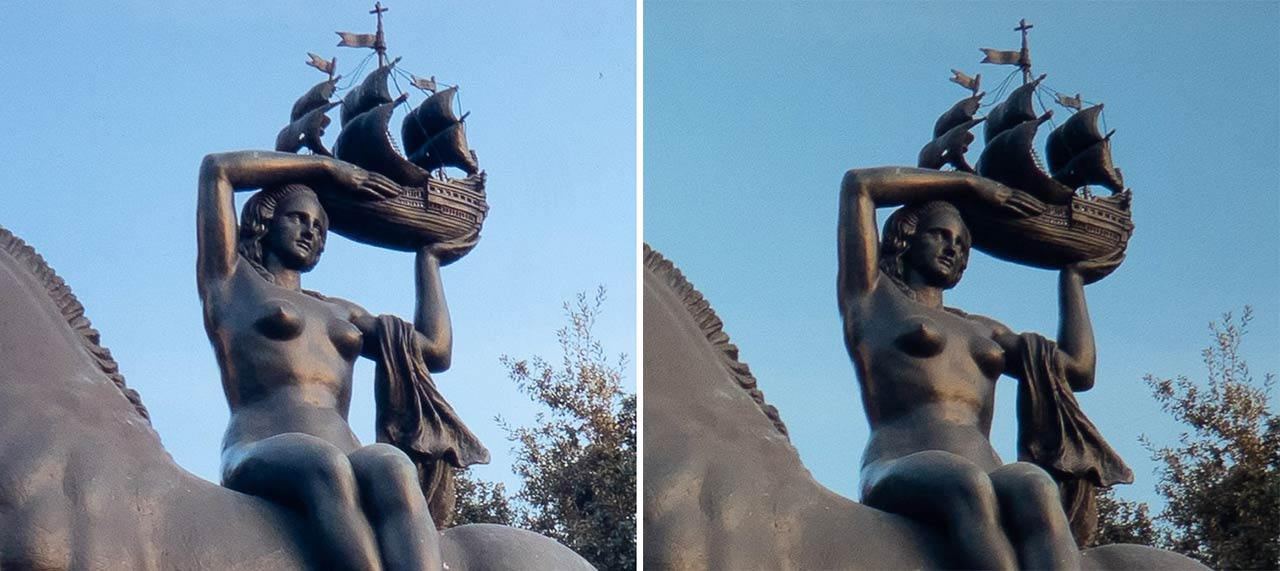 ▲ A part of the statue is enlarged.Looking at it like this, the three-dimensional effect is totally different