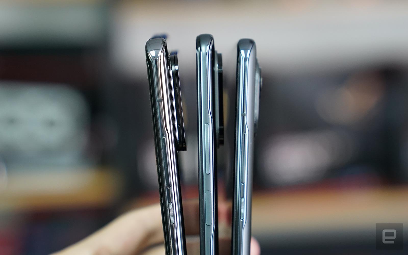 左起:小米11 Ultra、小米11i、小米11