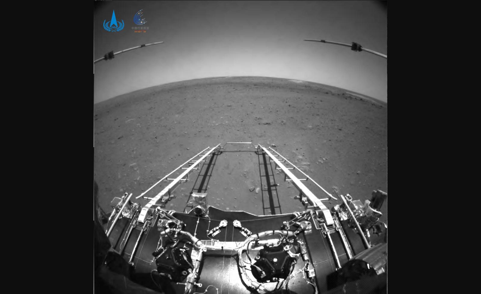 天問一號火星車影像