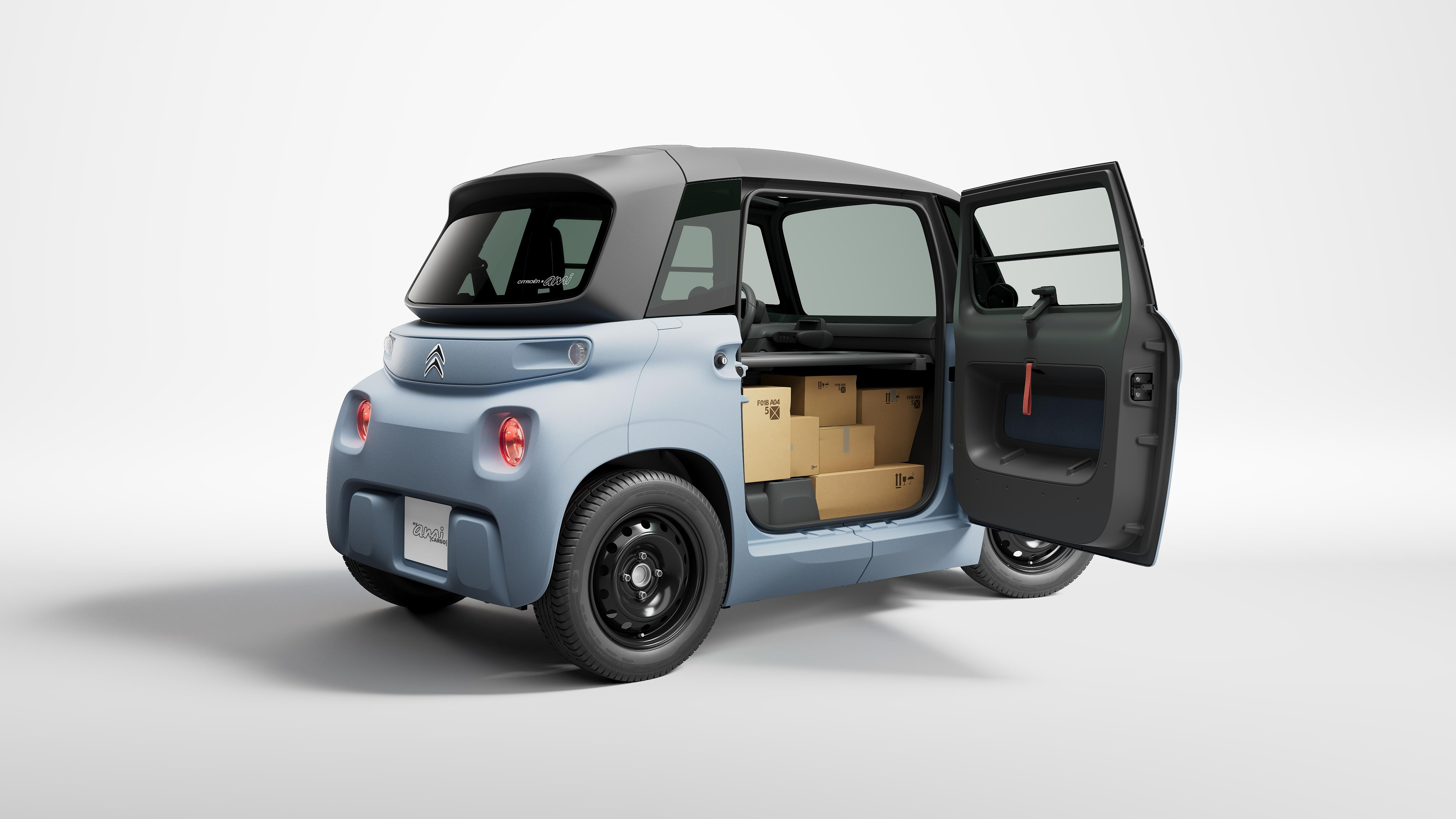photo of Citroën turned its compact Ami EV into a tiny delivery van image