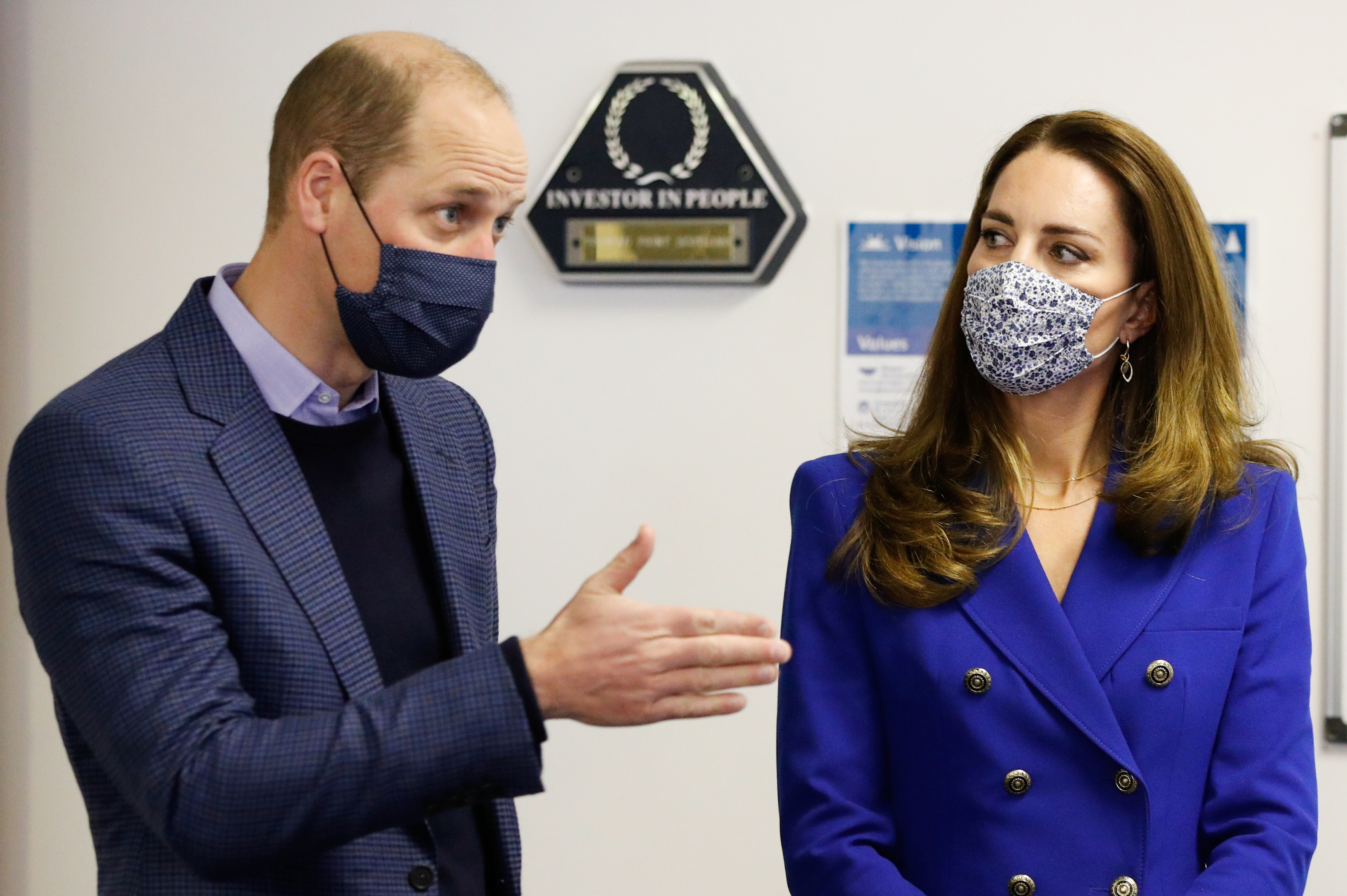 <p>The Duke and Duchess of Cambridge talk to service users during a visit to Turning Point Scotland's social care centre in Coatbridge, North Lanarkshire, to hear about the vital support that they provide to those with complex needs, including addiction and mental health challenges. Picture date: Monday May 24, 2021.</p>