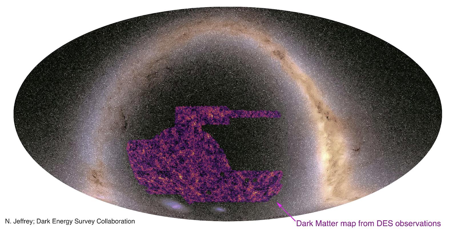 El mejor mapa de materia oscura hasta la fecha plantea preguntas sobre el  universo