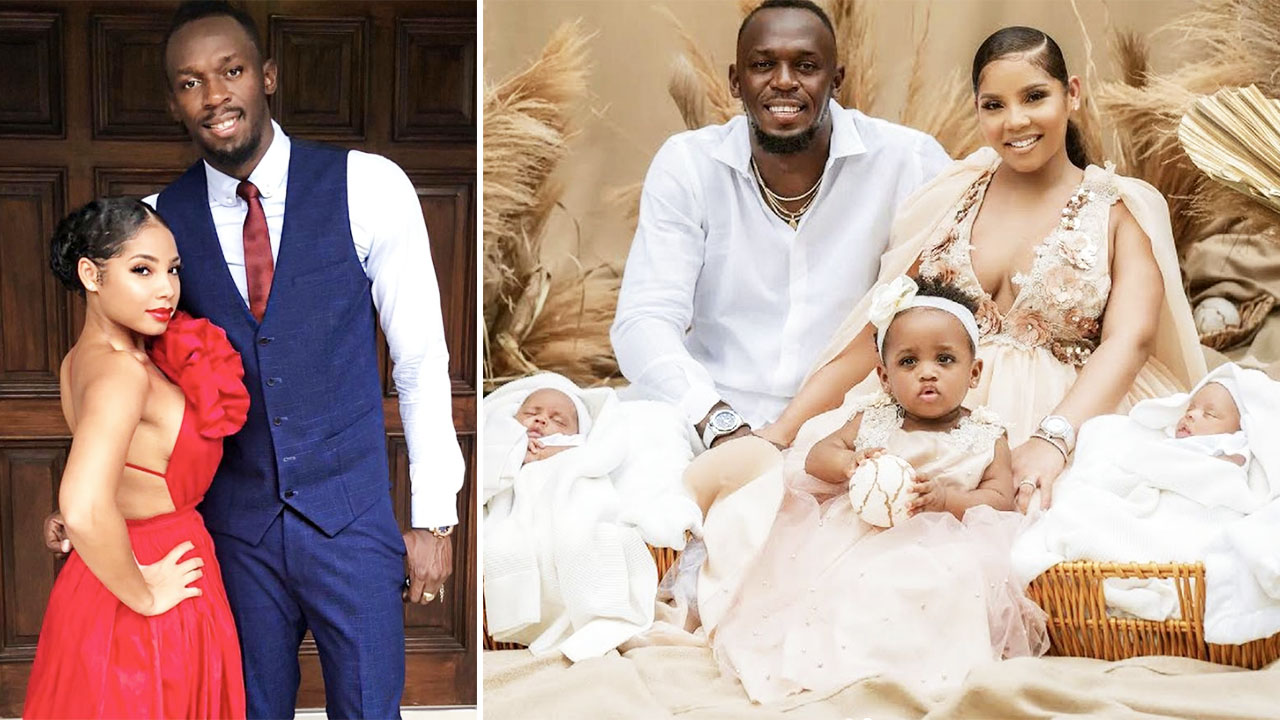 Usain Bolt sends fans into frenzy with names of new twin babies