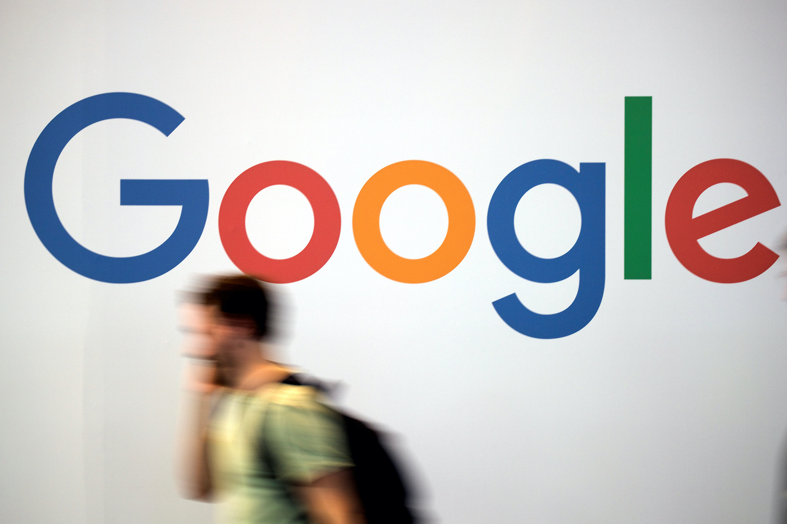 The logo of Google is pictured during the Viva Tech start-up and technology summit in Paris, France, May 25, 2018. REUTERS/Charles Platiau - RC11E2542460