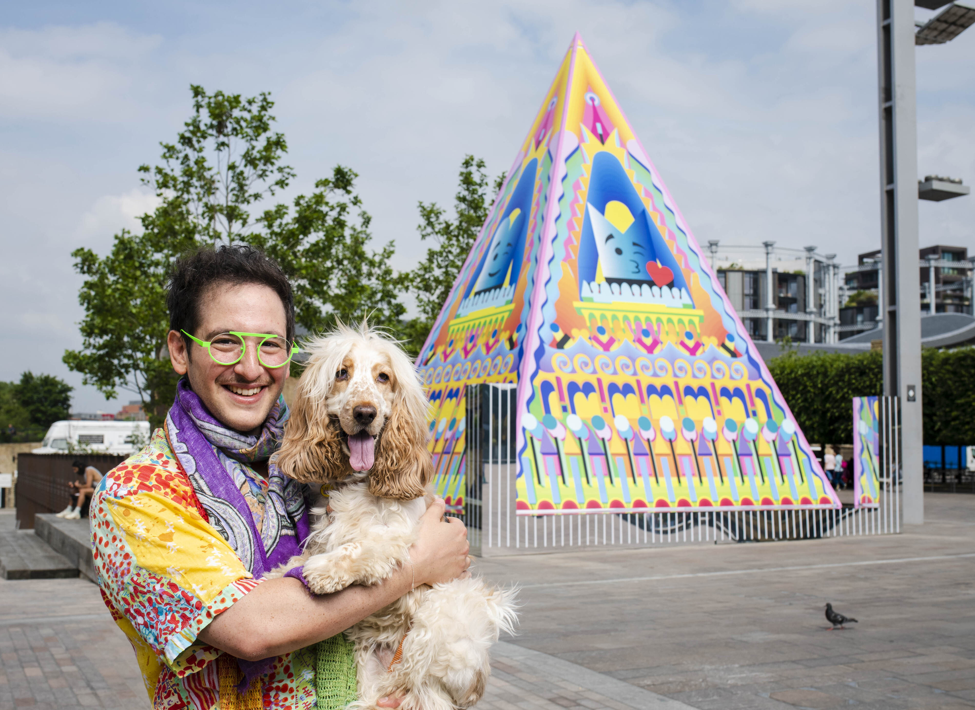 <p>EDITORIAL USE ONLY British Argentine-Japanese artist and designer, Adam Nathaniel Furman unveils their �Proud Little Pyramid� in Granary Square in King�s Cross. London Picture date: Issue June 24, 2021.</p>