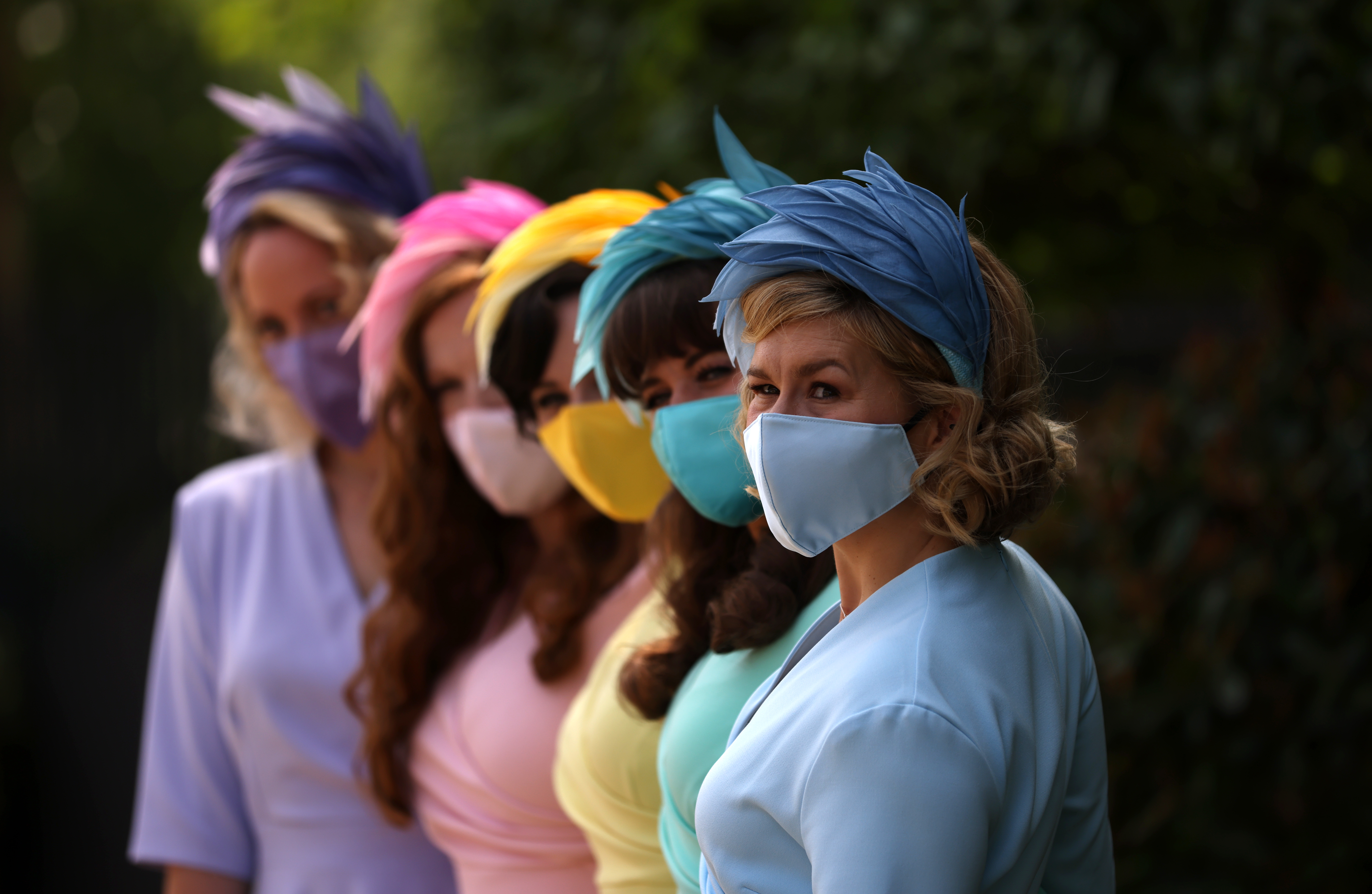 <p>The Tootsie Rollers arrive ahead of day one of Royal Ascot at Ascot Racecourse. Picture date: Tuesday June 15, 2021.</p>