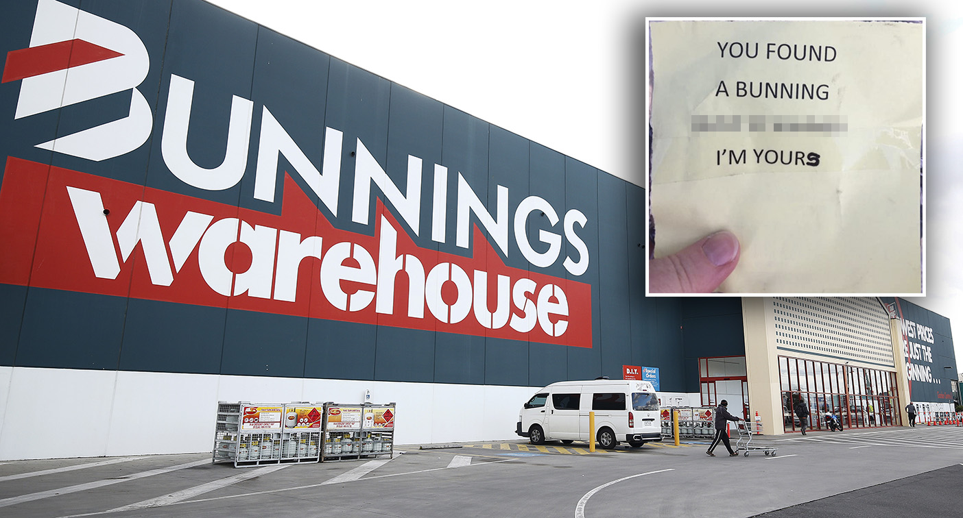 Shoppers find freebies hidden in the aisles at Bunnings