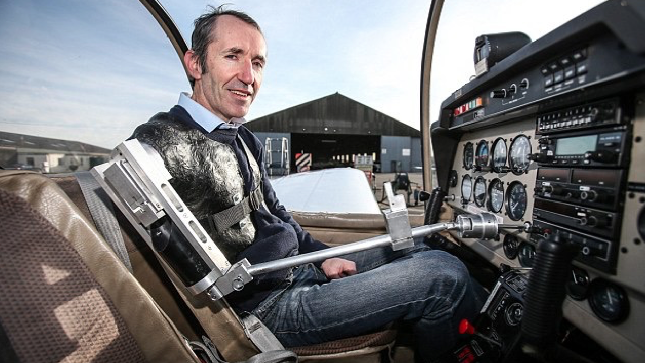 'I never despaired - I just learned to do things differently': The one-armed pilot who overcame the odds