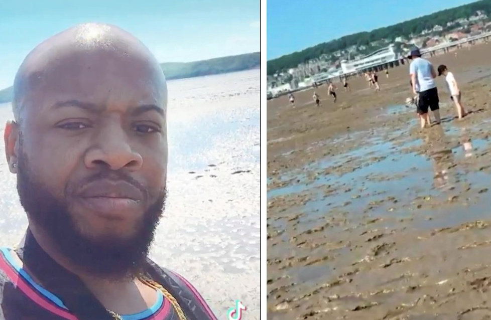 US TikTok star mocks British beach in scathing post - 'What the hell is this?'