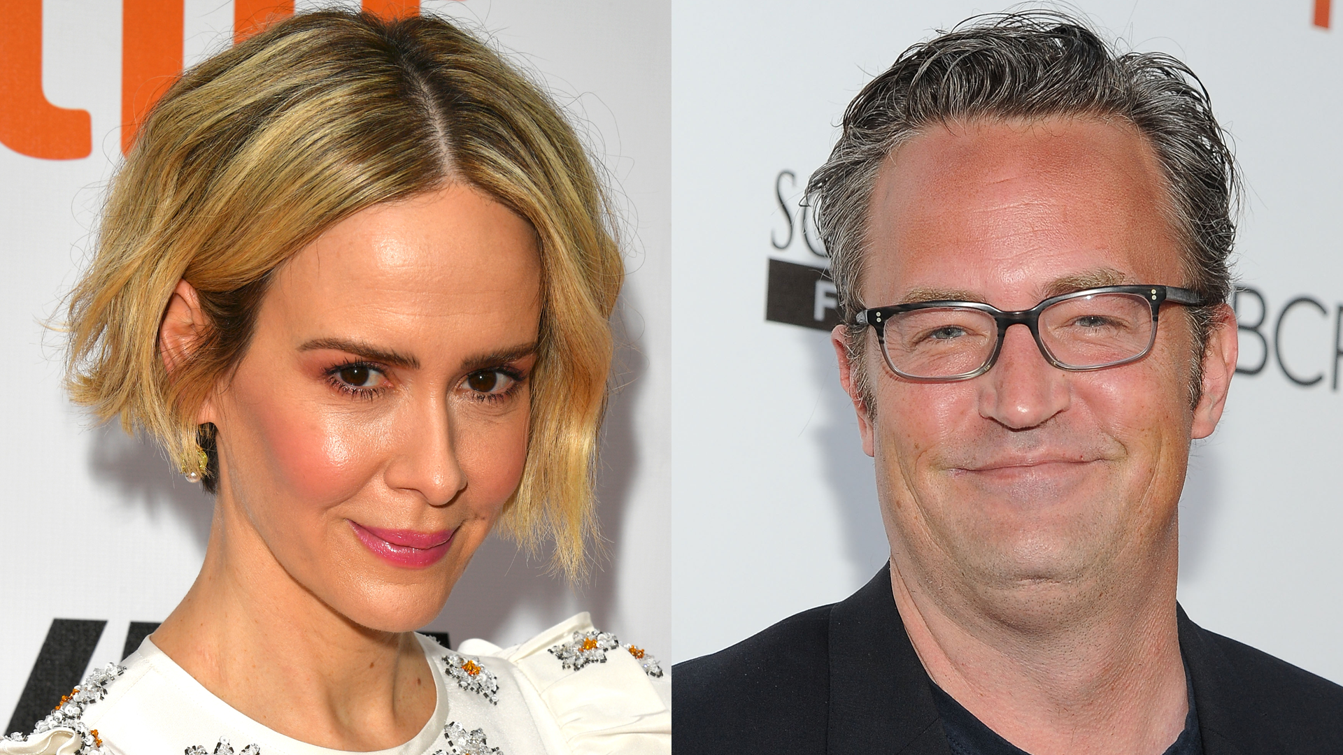 Sarah Paulson's awkward moment with Matthew Perry at a 'make-out party'