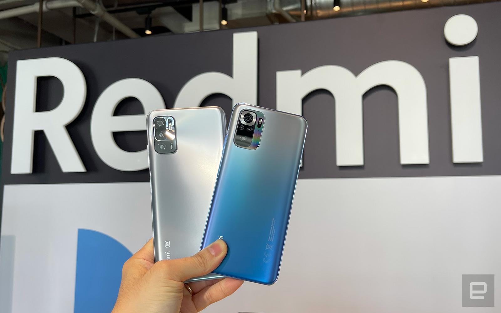 Redmi Note 10S 和 Redmi Note 10 5G,氣炸鍋、路由器和 27 吋螢幕。