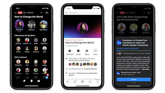 Facebook Live Audio Room