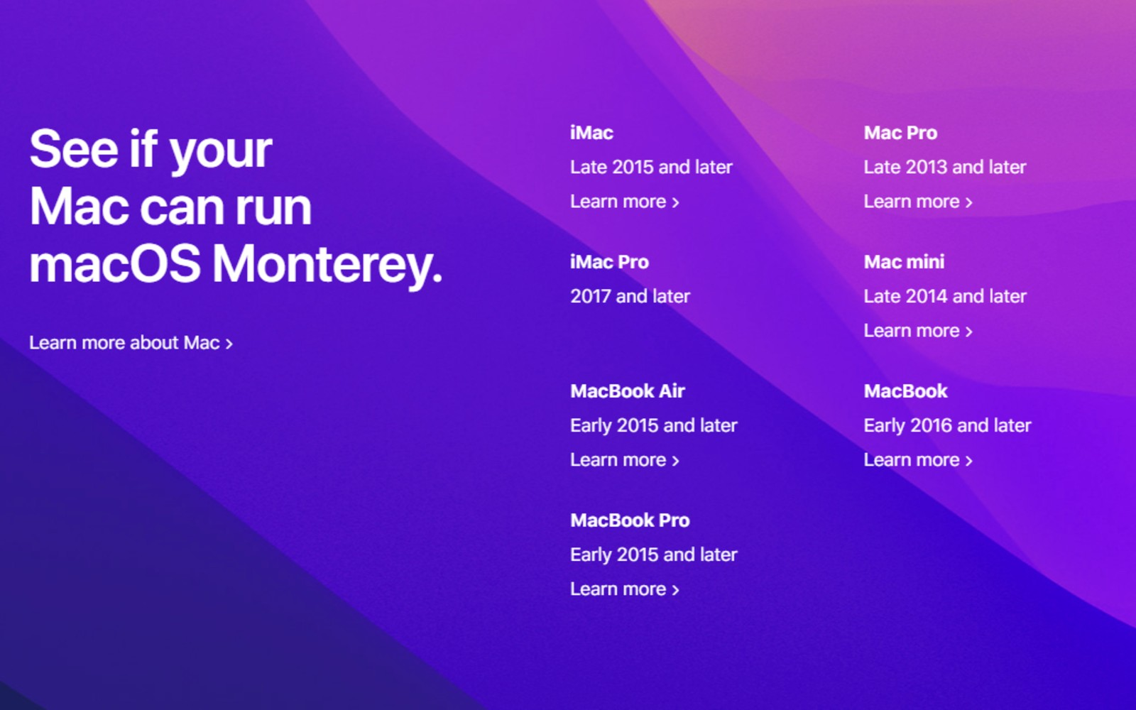 macOS 蒙特雷更新