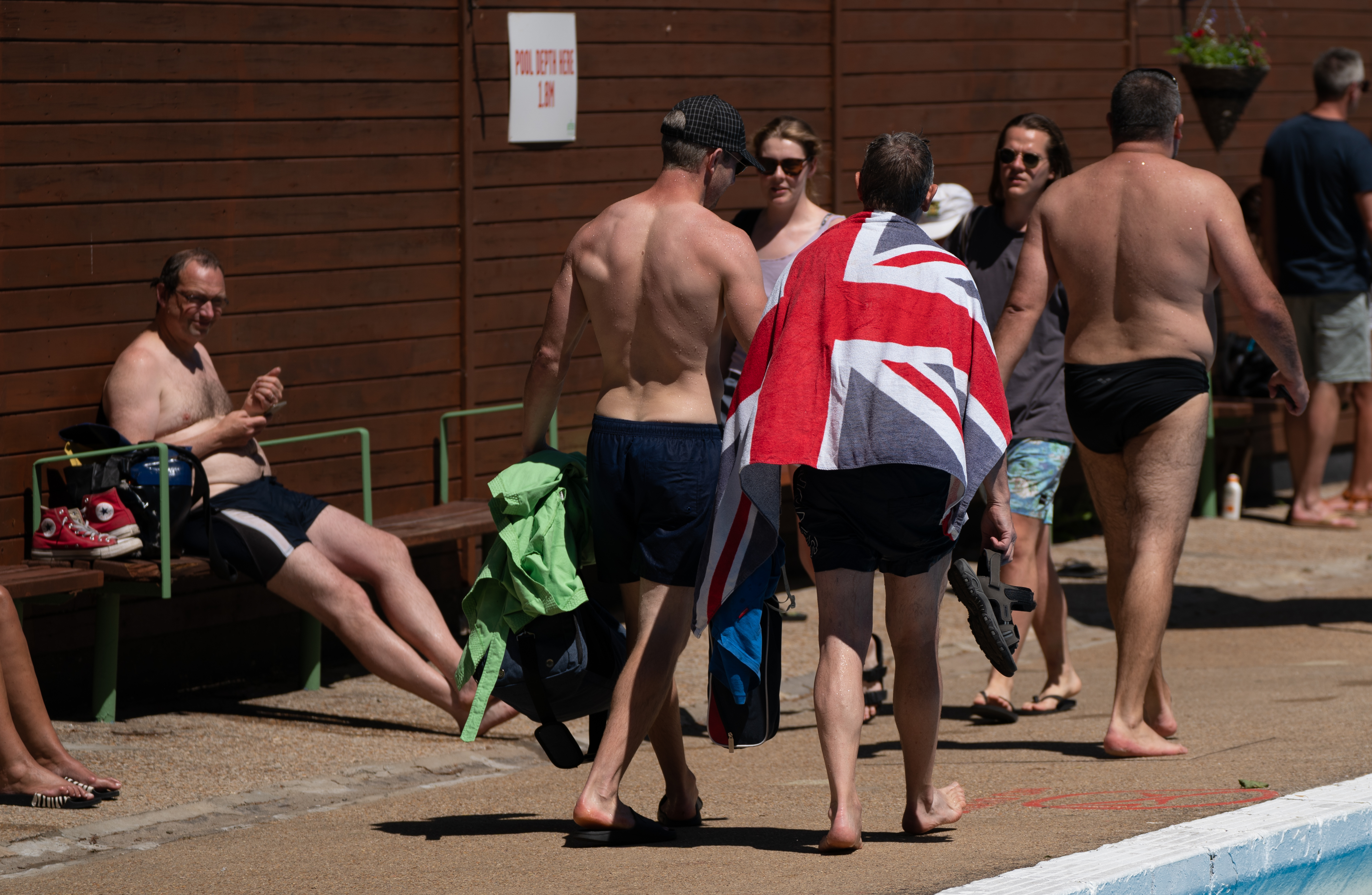 <p>Swimmers enjoy the hot weather at Jesus Green Lido in Cambridge. Wednesday could be the hottest day of the year so far as parts of the UK are set to bask in 30-degree heat. Picture date: Wednesday June 16, 2021.</p>