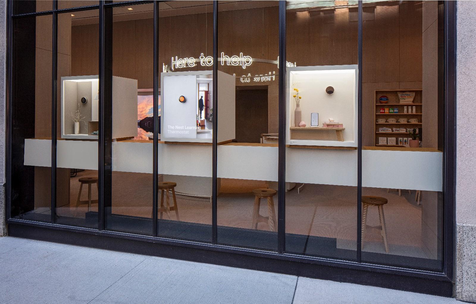 <p>Google Store Chelsea. Exterior facade at an angle.</p>