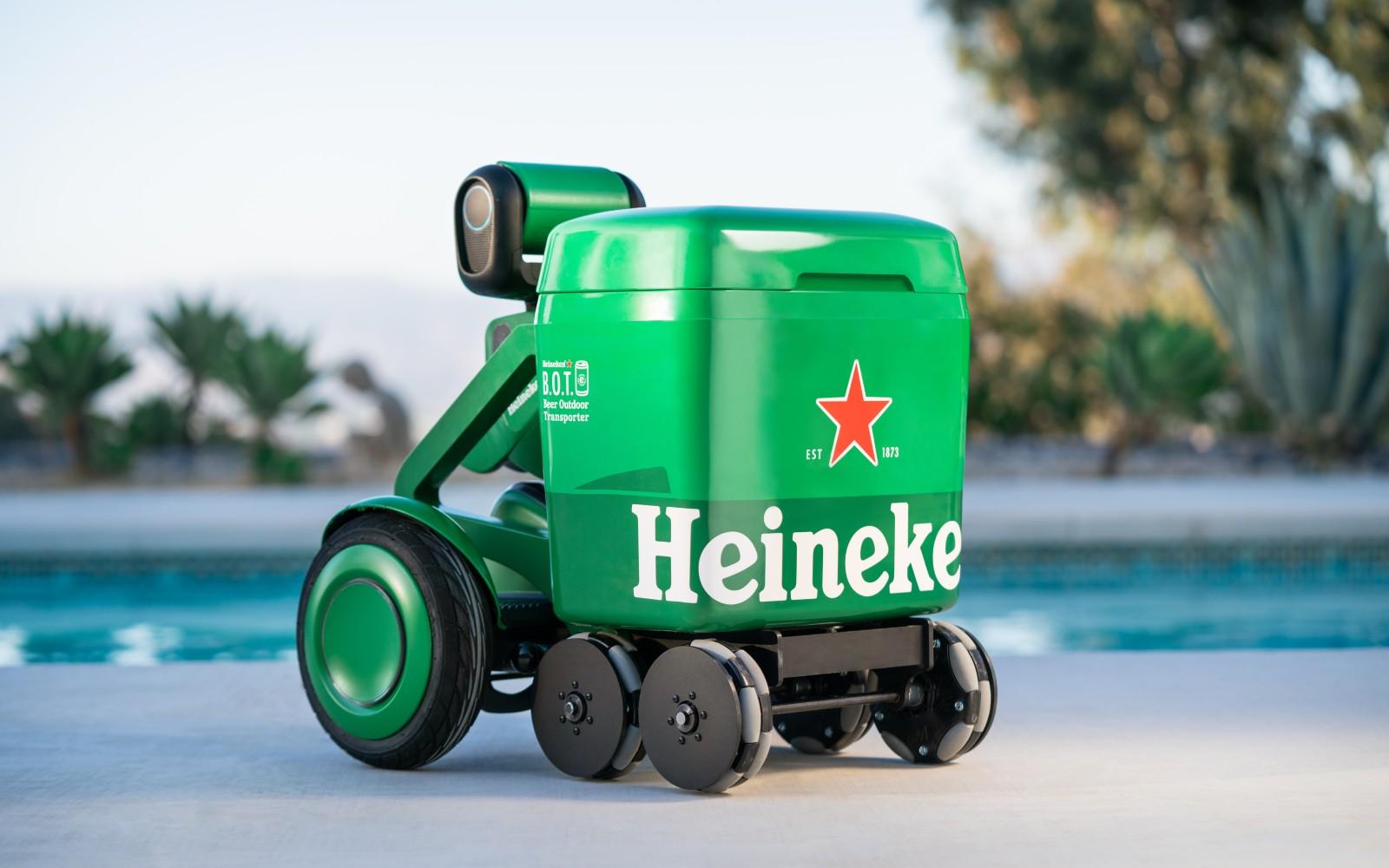 Heineken made a cute but garish autonomous beer cooler
