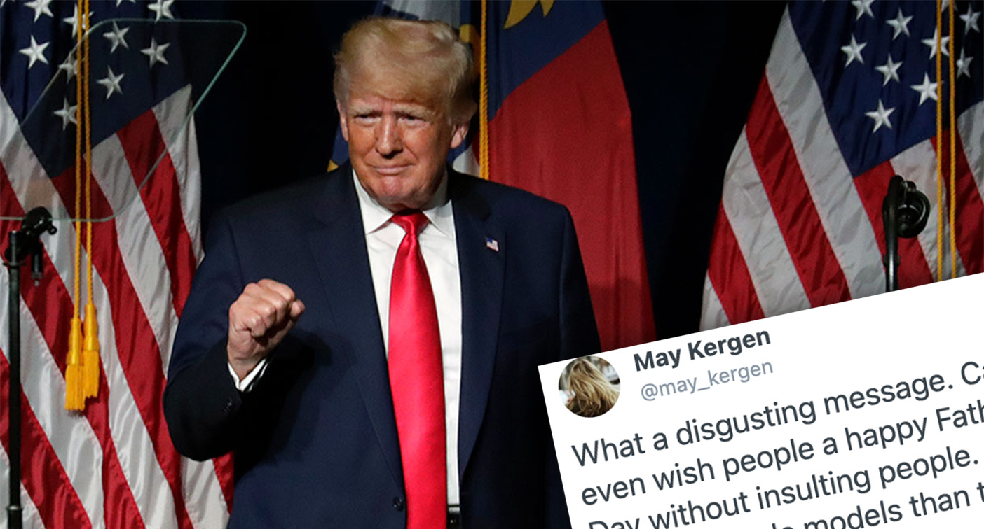 Trump slammed over 'disgusting' Father's Day message