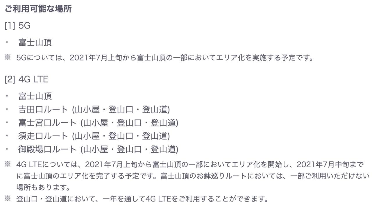 Mt Fuji Wi-Fi 5G 4G KDDI