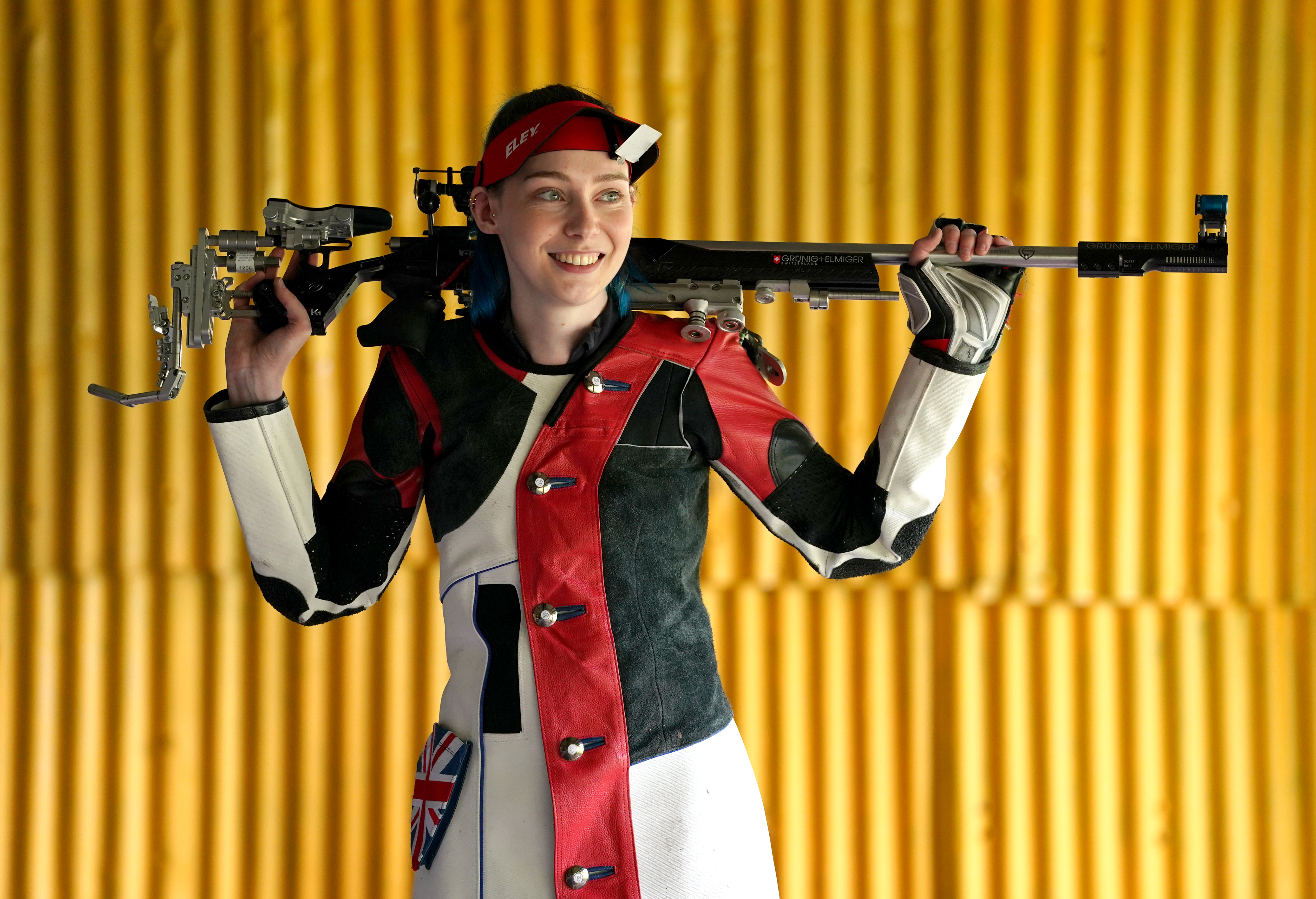 <p>Seonaid McIntosh during a photocall for the Tokyo Olympics 2020 at her shooting range in Alloa, Scotland. Picture date: Tuesday June 15, 2021.</p>