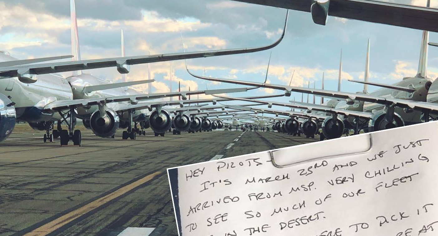 Pilot's 'eerie' note found 435 days after plane grounded by Covid – Yahoo News Australia