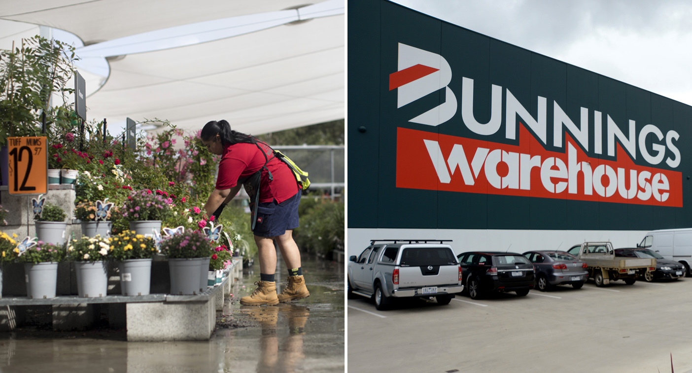 Bunnings staff praised for 'making life brighter' during lockdown
