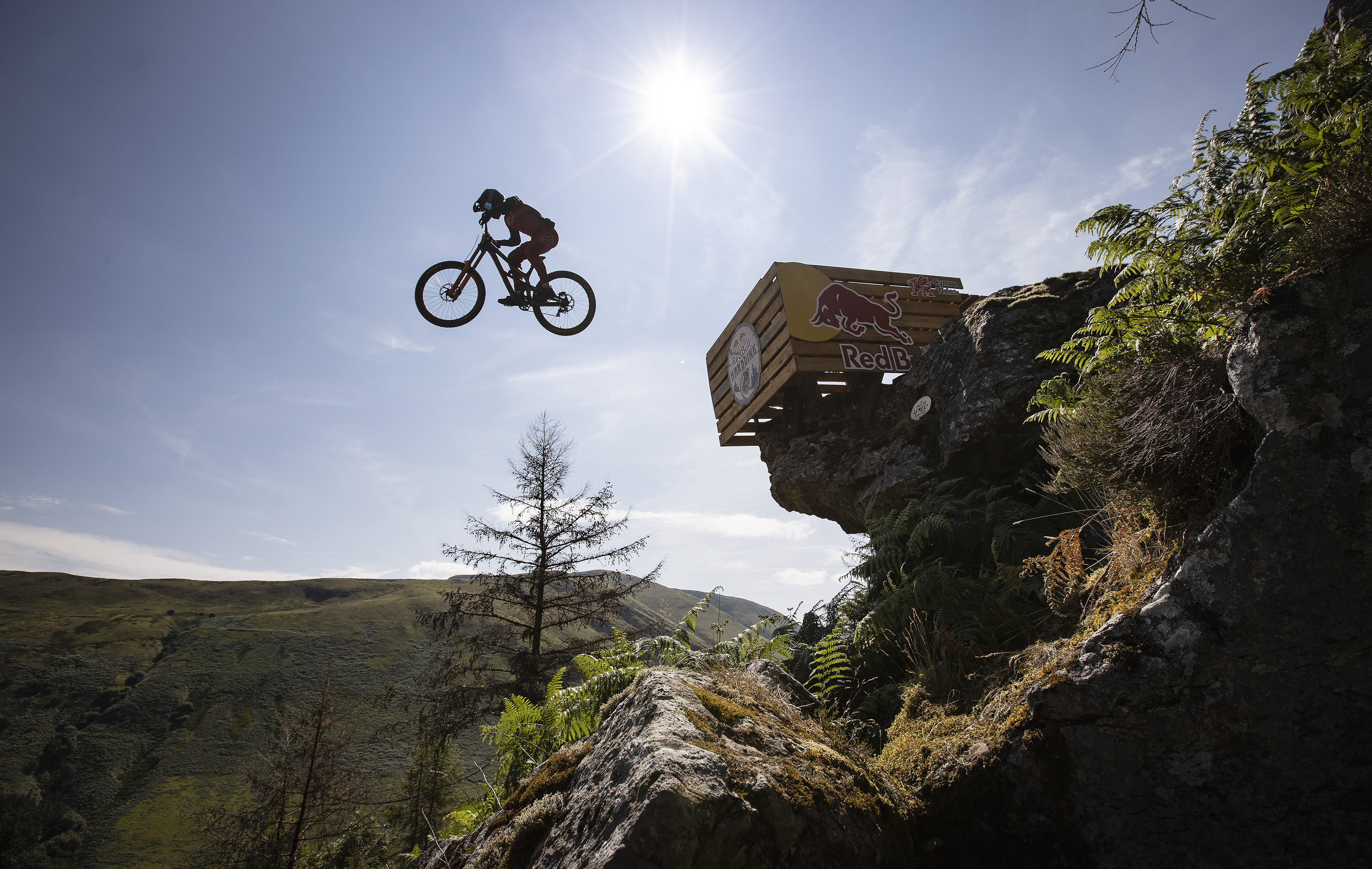 <p>EDITORIAL USE ONLY New Zealand's Sam Gale participates in the Red Bull Hardline 2021 competition in Dyfi Valley, Wales. Picture date: Sunday July 25, 2021.</p>