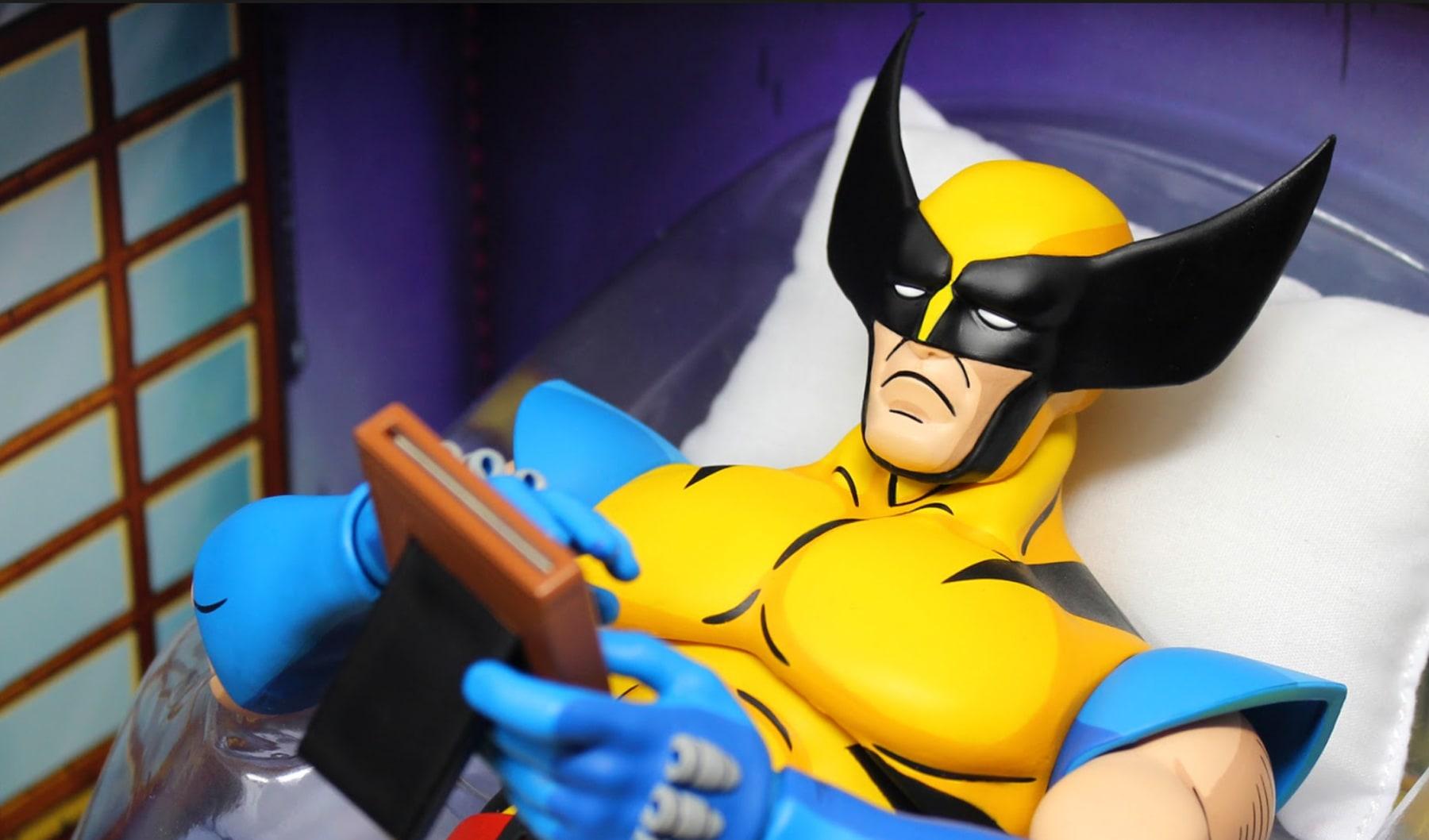 Mondo The Sad Wolverine meme action figure