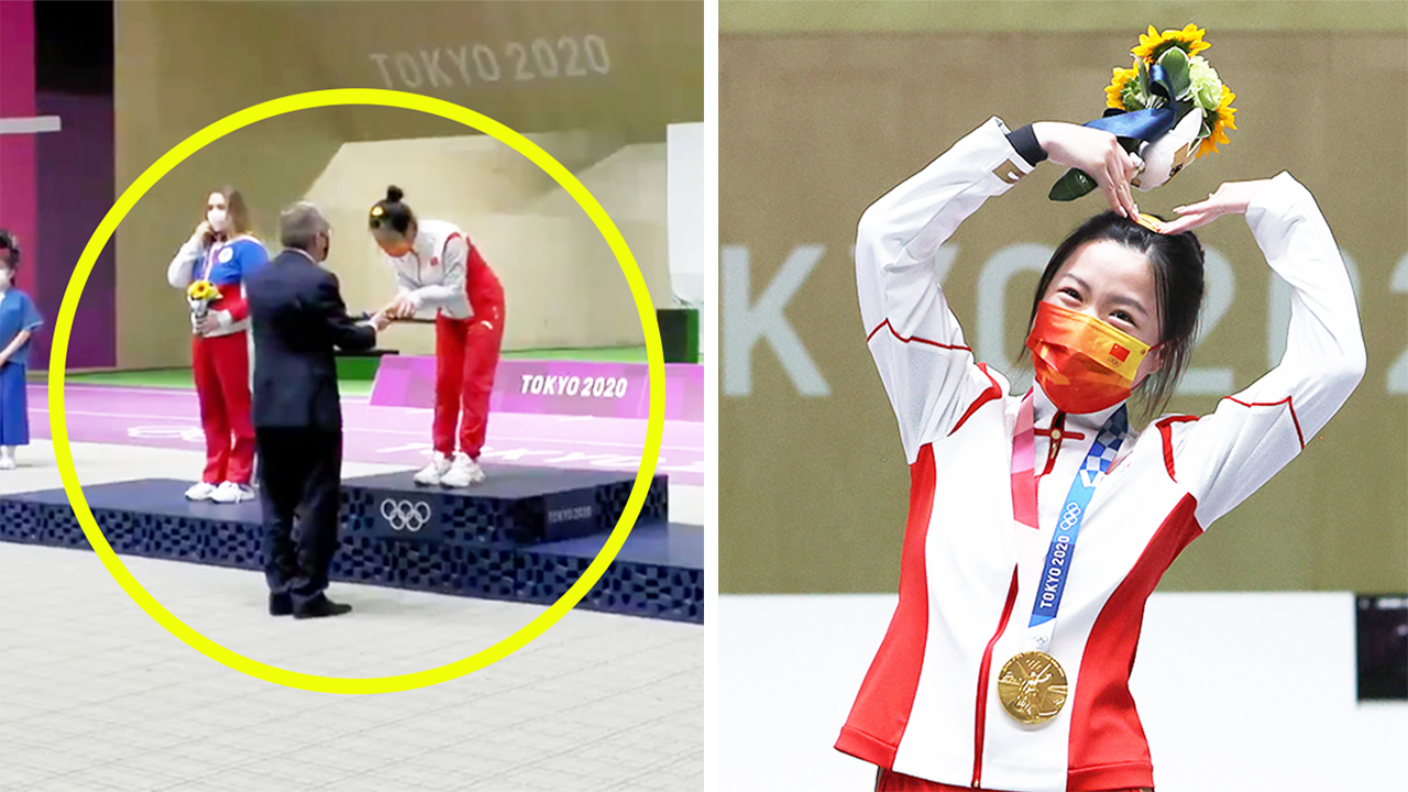 'Crown yourself': Curious detail in first Tokyo Olympics medal ceremony