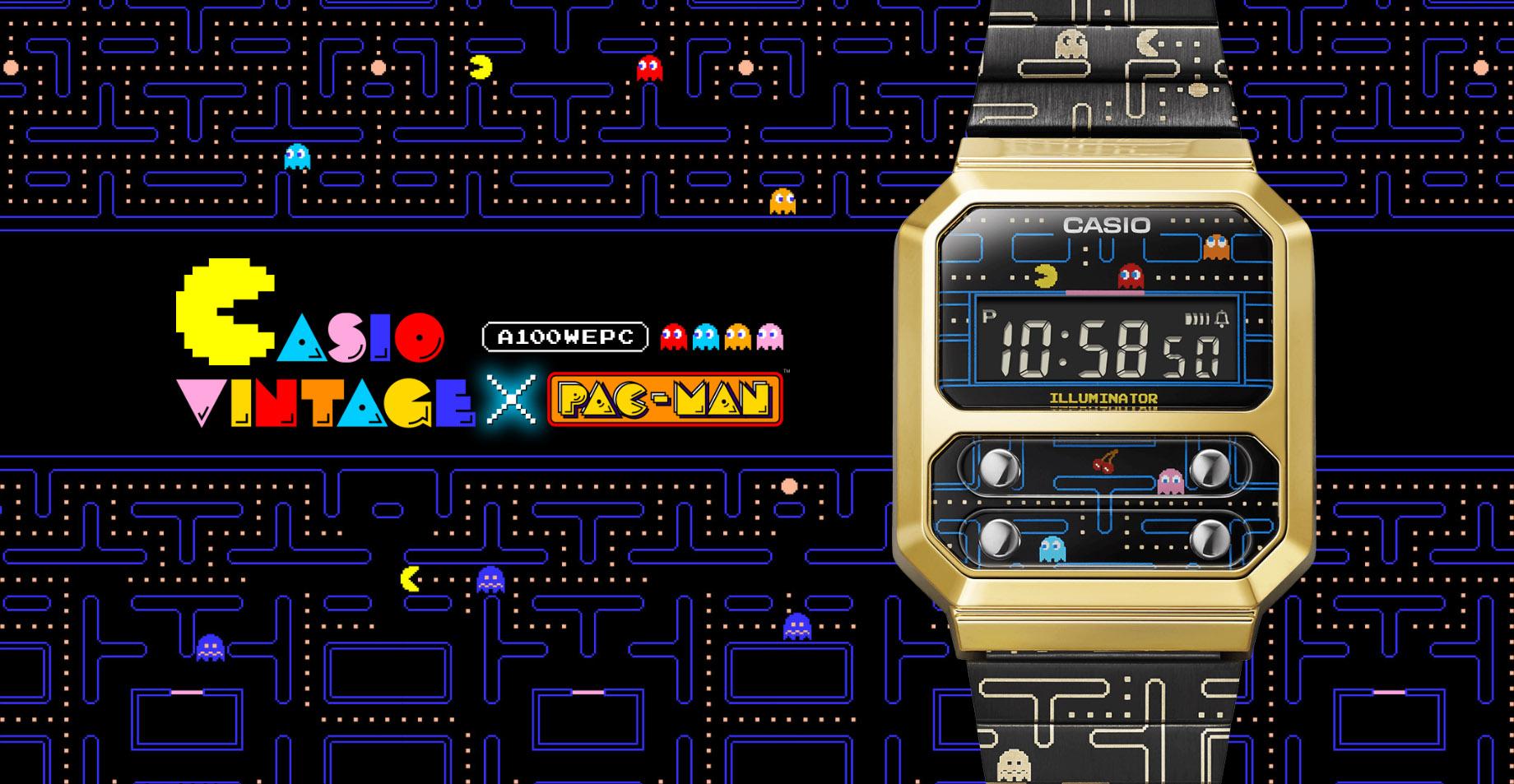Casio unveils the Pac-Man edition A100 digital watch