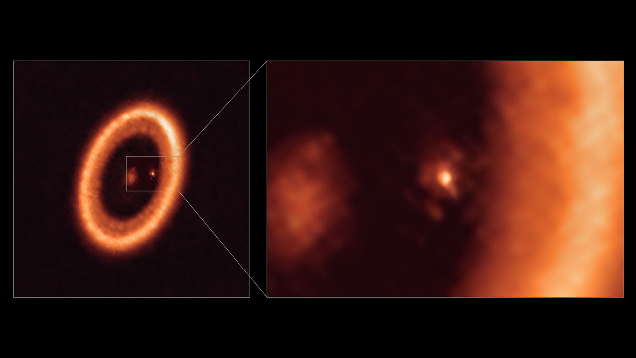 Astronomers spot possible moon-forming region for the first time
