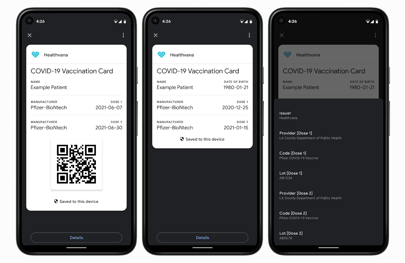 Google adds support for virtual COVID-19 vaccine cards on Android devices