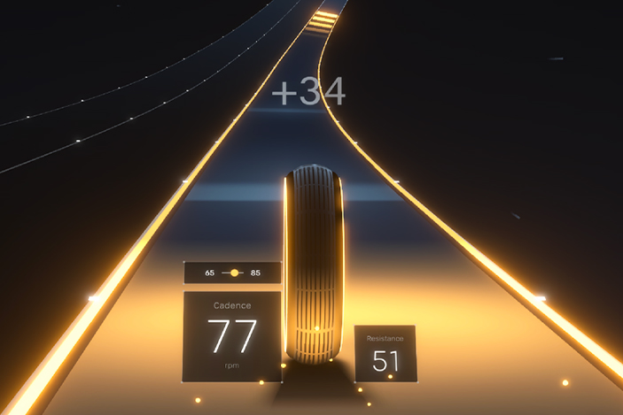 Peloton launches its first exercise game for connected bike owners