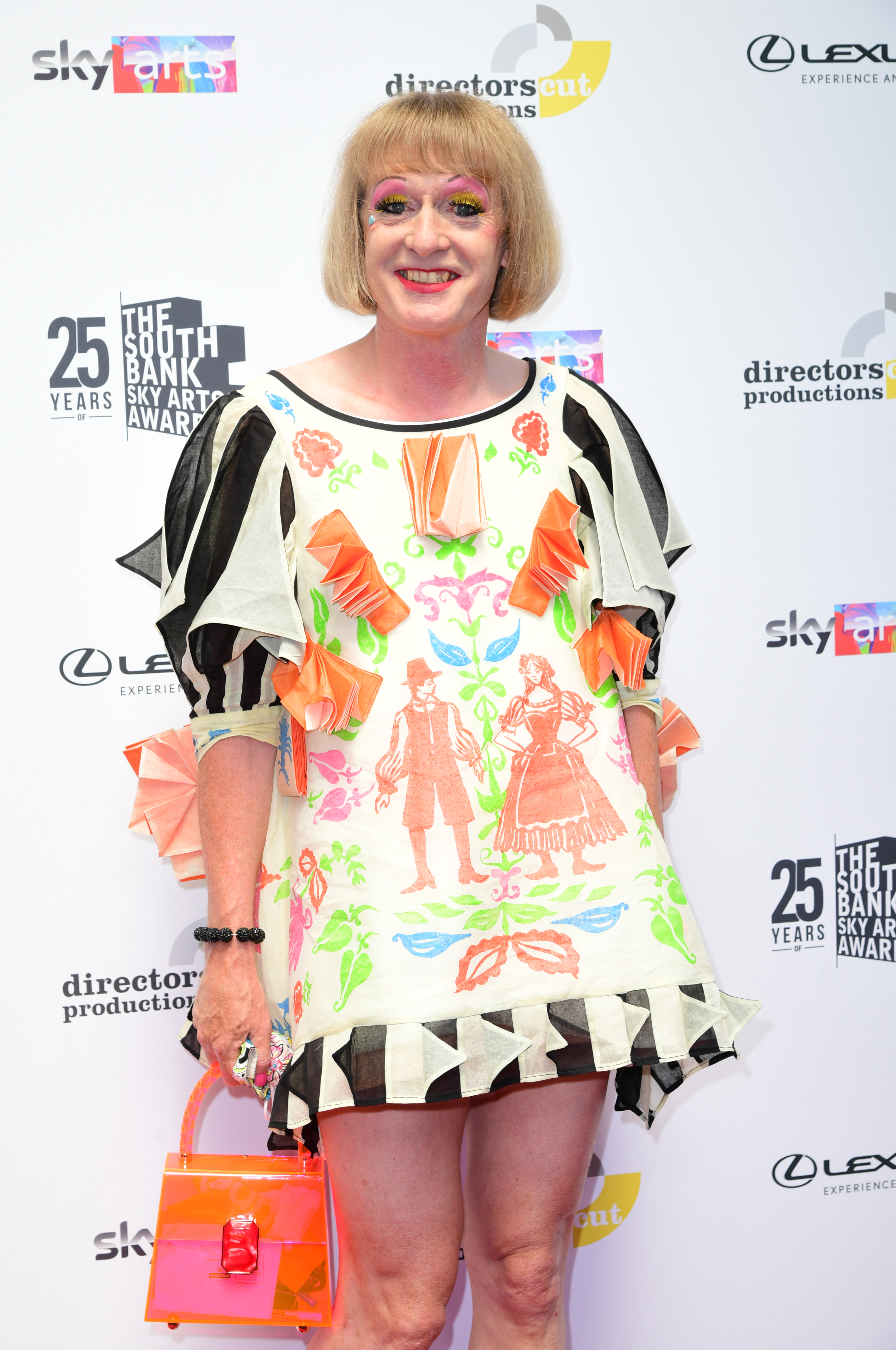 <p>Grayson Perry attending the South Bank Sky Arts Awards at the Savoy Hotel in London. Picture date: Monday July 19, 2021.</p>