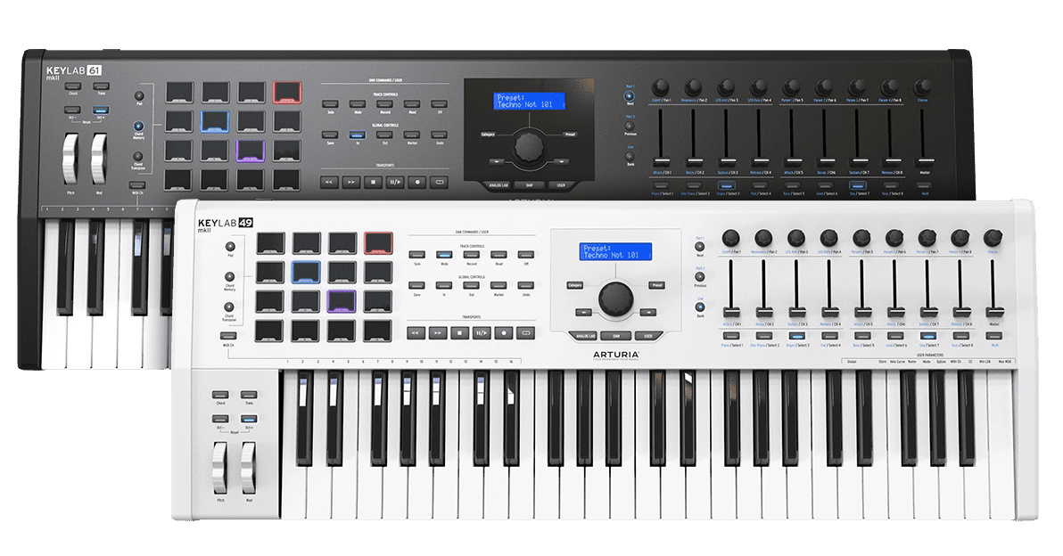 Arturia's KeyLab mk2 keyboards