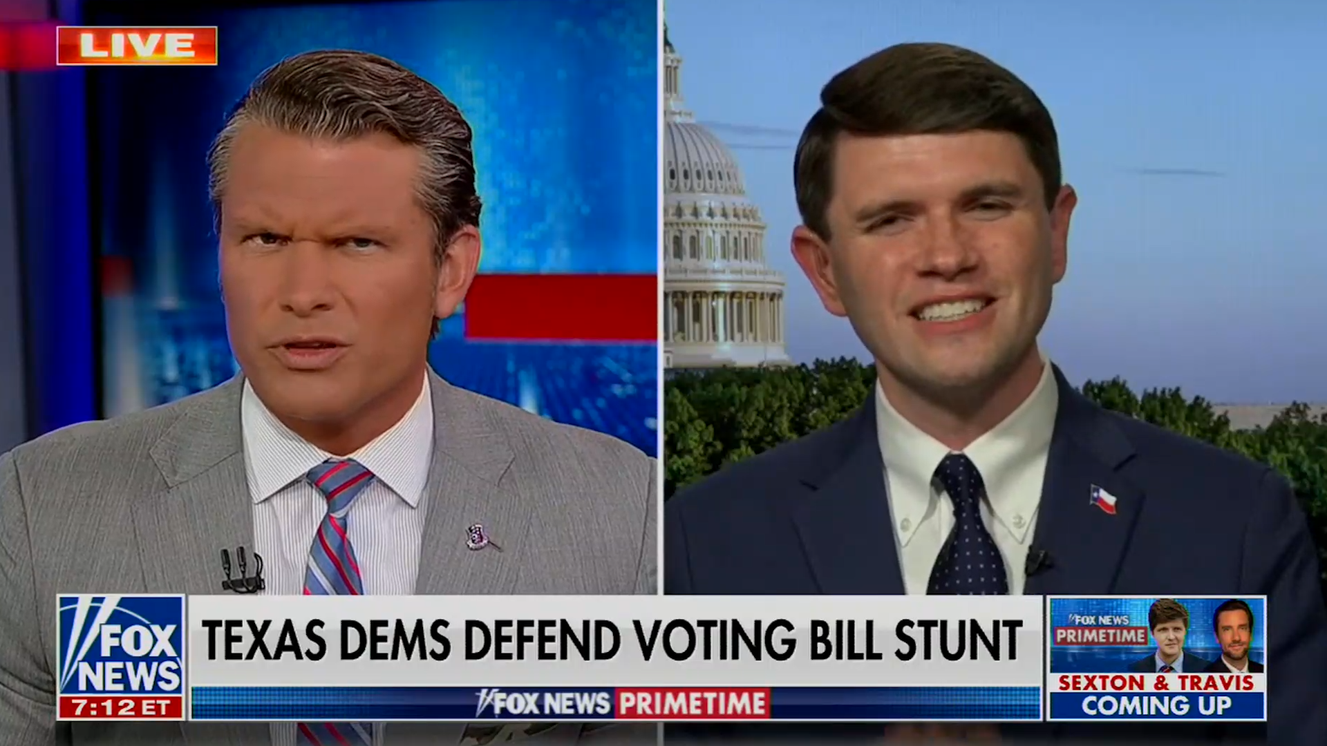 Texas Democrat challenges Fox News host to admit Trump lost election: 'Uncomfortable question for you?'