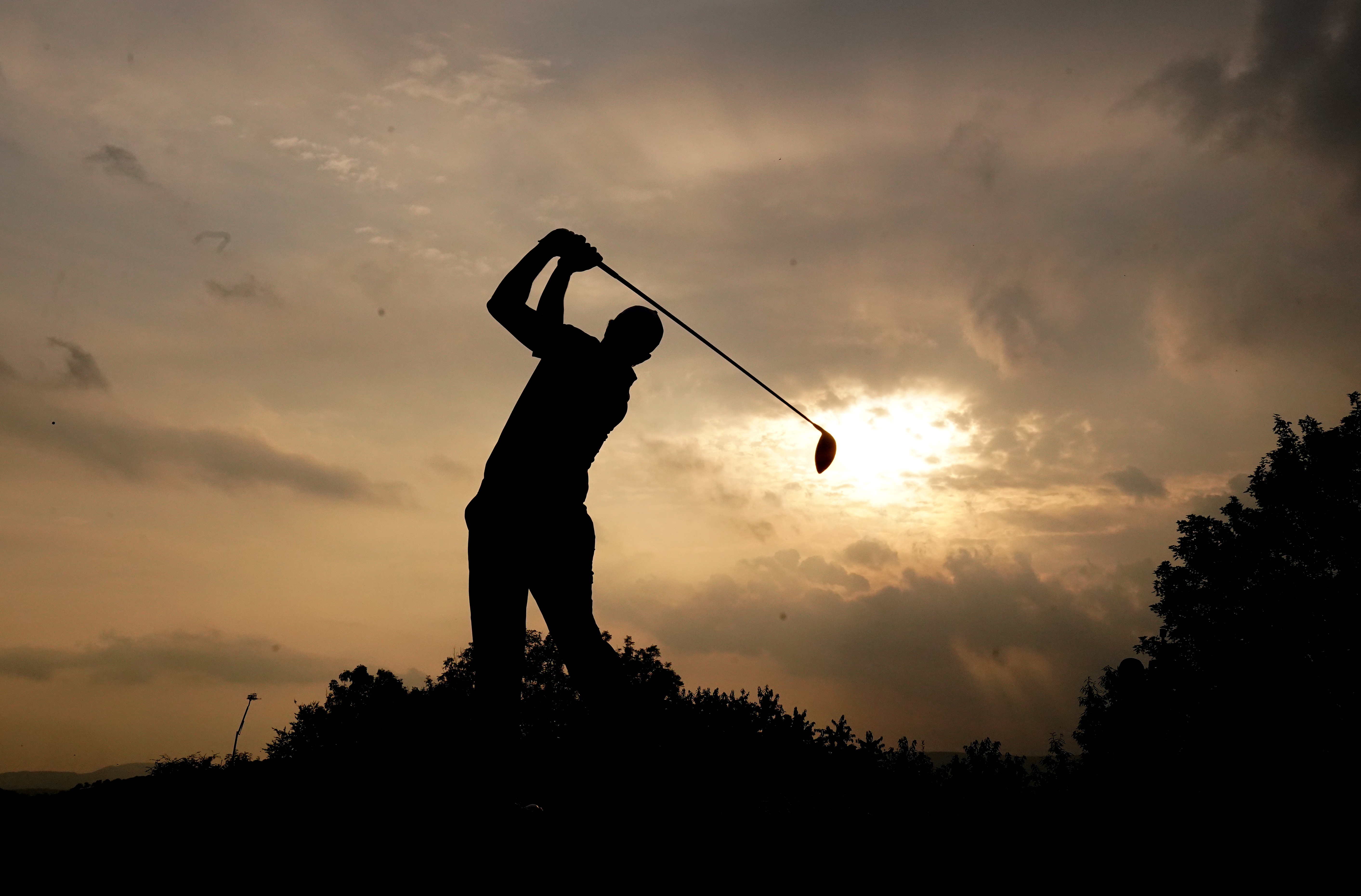<p>Nacho Elvira tees off on the 18th during day four of the Cazoo Wales Open at the Celtic Manor Resort in Newport, Wales. Picture date: Sunday July 25, 2021.</p>