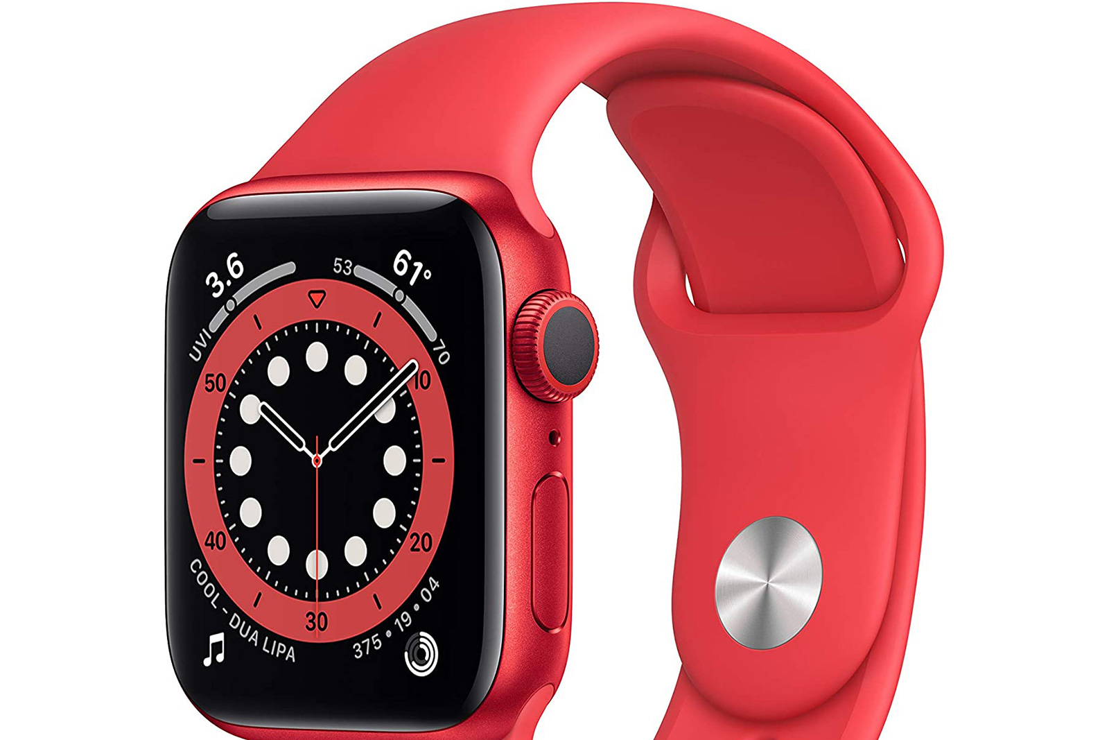 Apple Watch Series 6 Product Red with Count Up face