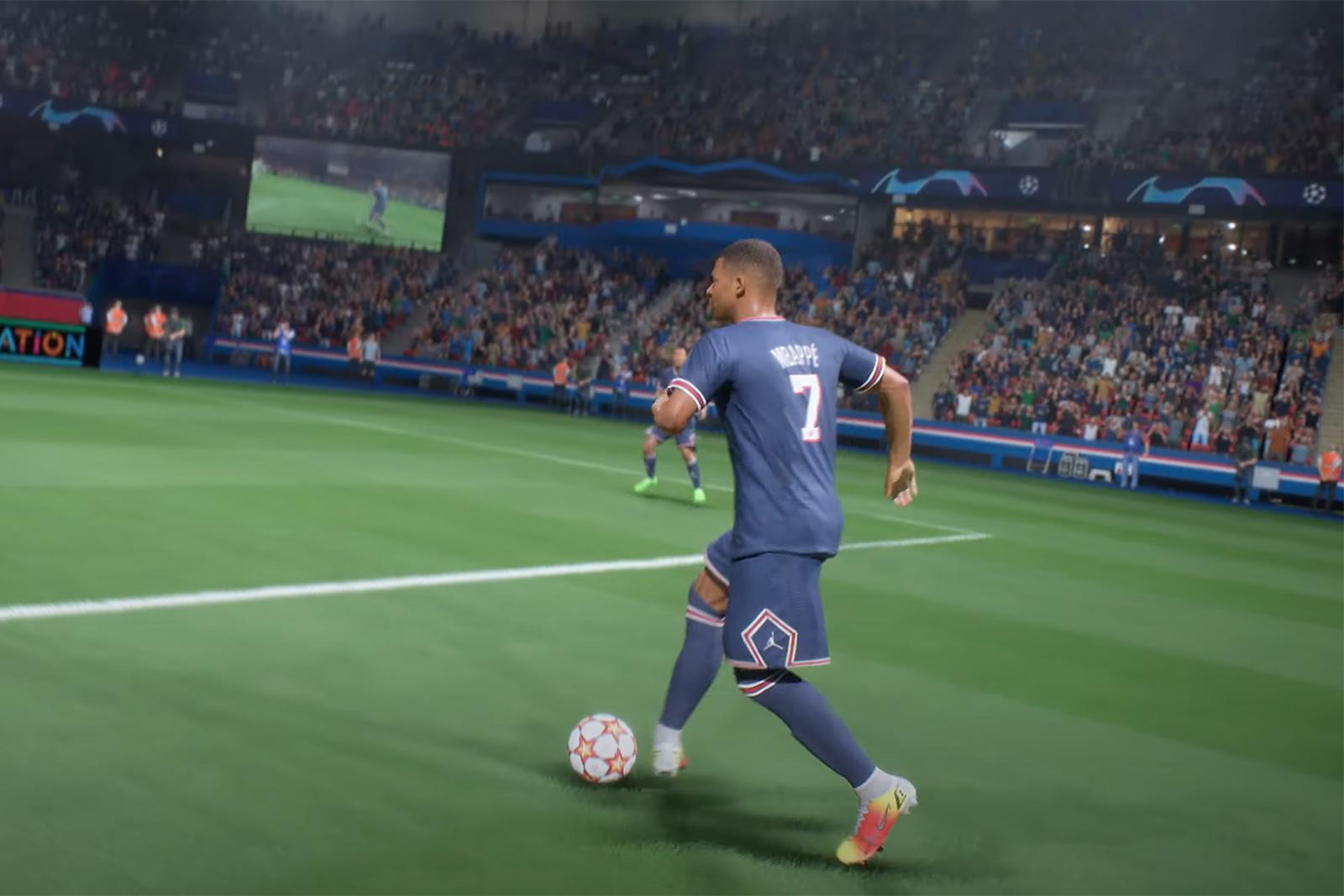 Kylian Mbappe in 'FIFA 22'