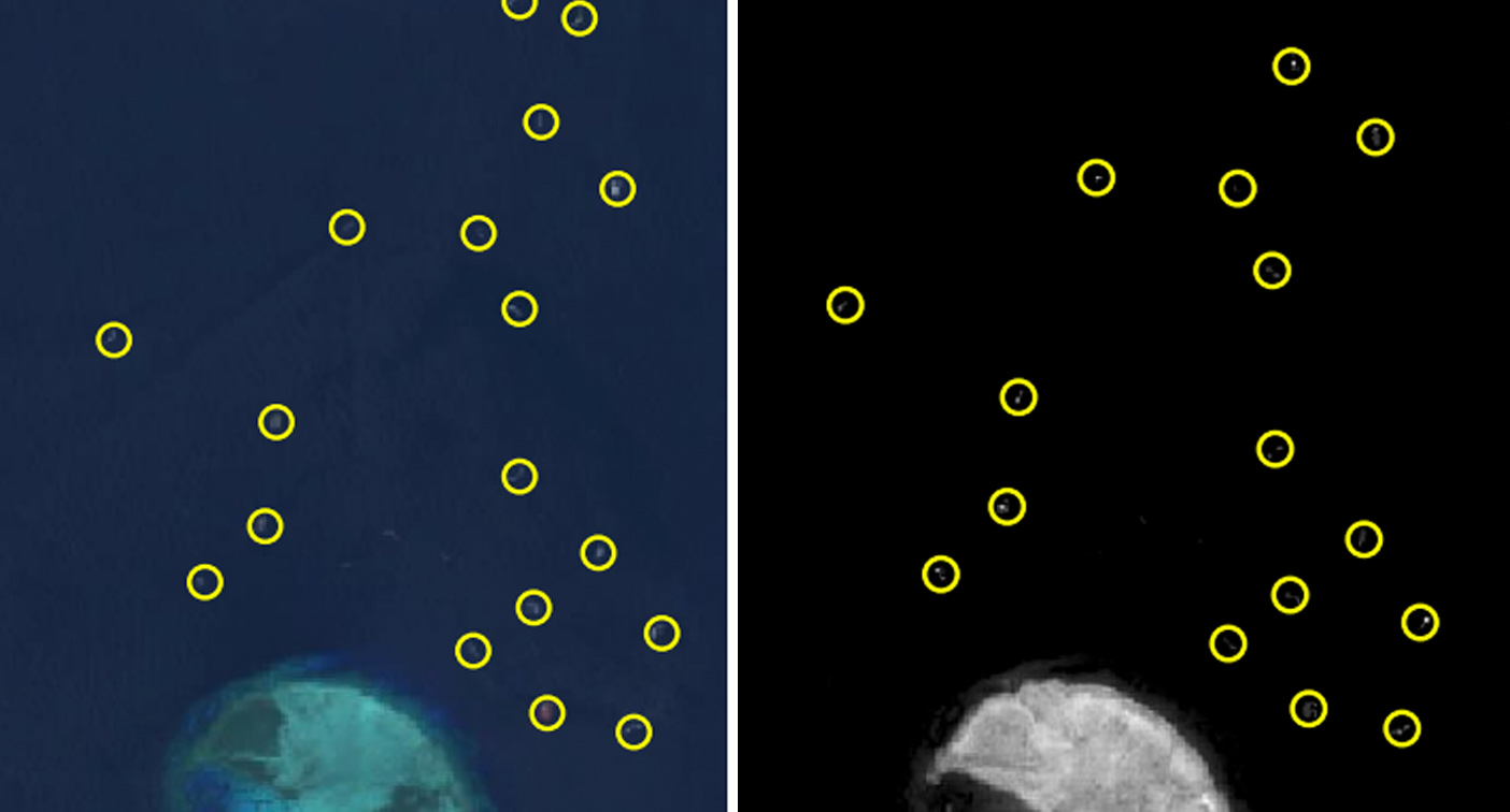 'Poo piling up': Satellite images show devastating impact of Chinese ships