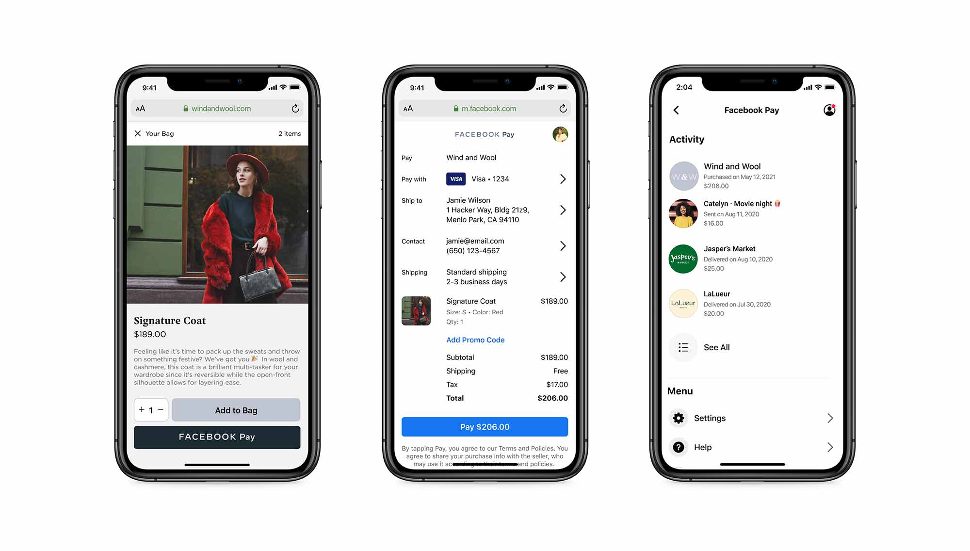 The Facebook Pay buttons arrive in August online stores